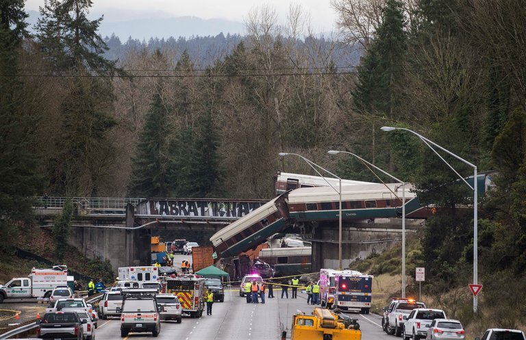 High Speed Train Derails South of Seattle