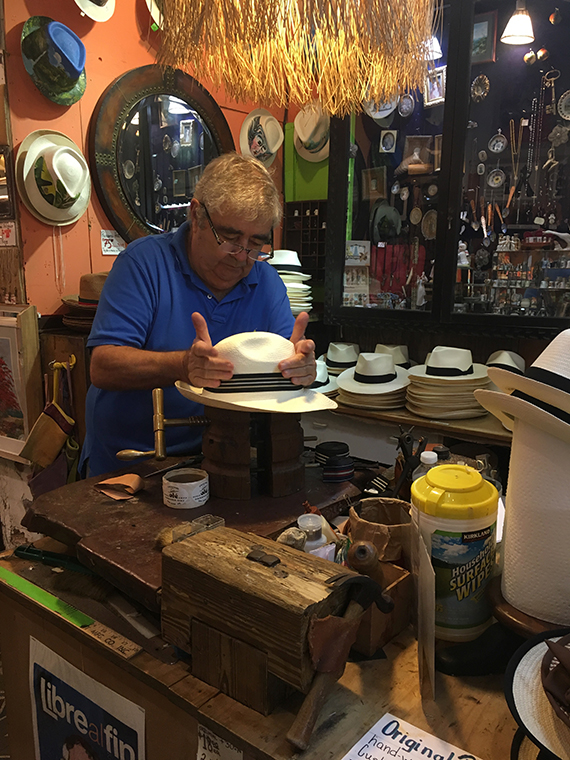 Custom Panama Hat Maker in San Juan